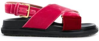 Marni Fussbett cross sandals