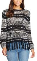 MinkPink Women's Smoke On The Water Knit Striped Long Sleeve Tops,(Manufacturer Size:Small)