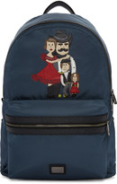 Dolce & Gabbana Blue Cowboy Family Backpack