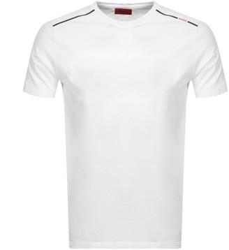 HUGO BOSS Dyrtid Crew Neck Short Sleeve T Shirt White