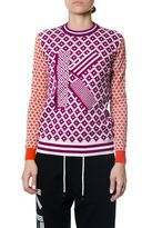 Kenzo Graphic-embroidered Cotton And Wool-blend Sweater