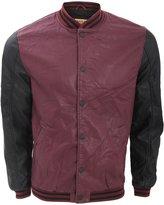 Brave Soul Mens Locker Faux Leather Varsity Jacket