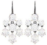 Bottega Veneta Crystal-embellished silver earrings
