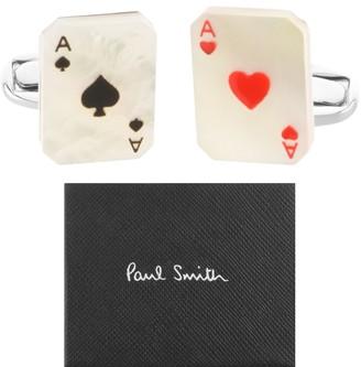 Paul Smith Aces Cufflinks Set Silver