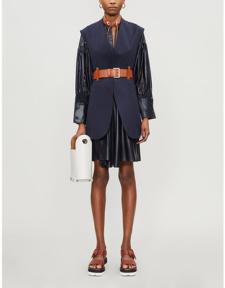 Sportmax Sleeveless belted stretch-cotton jacket