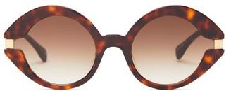 KALEOS Moran Round Acetate Sunglasses - Tortoiseshell