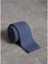 Burberry Slim Cut Waffle Knit Wool Tie