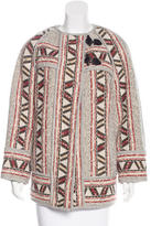 Isabel Marant Virgin Wool Patterned Coat