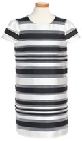 Milly Minis Toddler Girl's Chloe Illusion Stripe Shift Dress