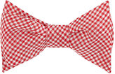 Alexander Olch MEN'S GINGHAM WOVEN BOW TIE-RED