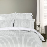 Tommy Hilfiger Sateen Stripe Duvet Cover - Grey - Double