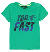 George Too Fast Slogan T-Shirt