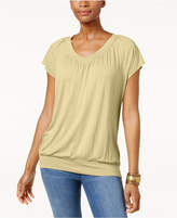 JM Collection Petite Banded-Hem Top, Created for Macy's