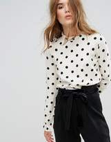 Leon and Harper Long Sleeved Top in Polka Dot