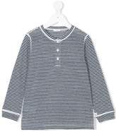 Il Gufo buttoned longsleeved striped T-shirt