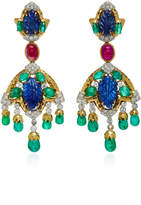 David Webb One-Of-A-Kind Couture Earrings