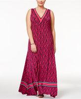 MICHAEL Michael Kors Size Snakeskin-Print Maxi Dress