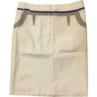 Philosophy di Alberta Ferretti White Linen Skirt for Women