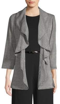 Calvin Klein Plaid Open-Front Blazer