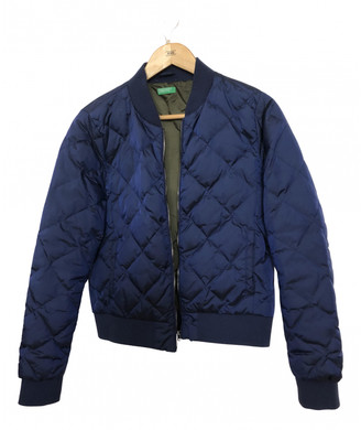 Benetton Blue Polyester Jackets