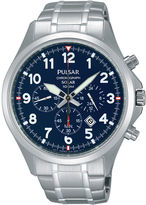 Pulsar Mens Stainless Steel Solar Chronograph Sport Watch PX5037