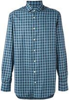 Kiton plaid button down shirt