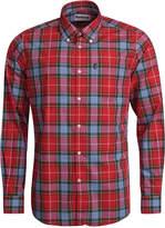 Barbour Men's Oscar Red Plaid Oxford Shirt