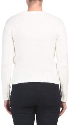 Juniors Textured Pullover Sweater