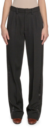 Marc Jacobs Runway) Pleated-Front Wool Straight-Leg Pants
