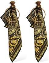 Versace Baroque Sash Hoop Earrings
