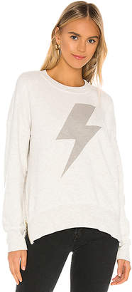 Sundry Lightning Bolt Double Zip Oversized Sweatshirt