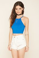 Forever 21 FOREVER 21+ Smocked Strappy Crop Top