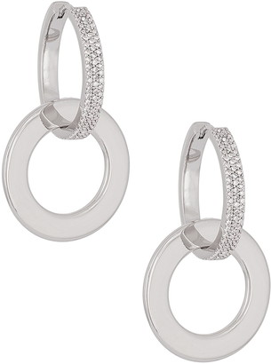 Uncommon James by Kristin Cavallari Harmonize Cubic Zirconia Drop Hoop Earrings
