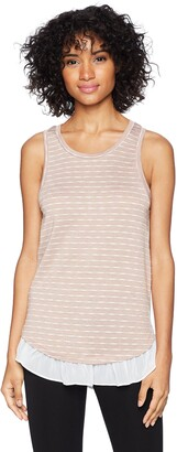 BCBGeneration Women's Split Back Ruffle Hem Tank