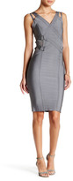 Wow Couture Banded Mesh V-Neck Bodycon Dress