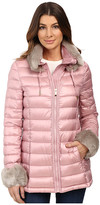 Via Spiga Short Puffer with Detachable Chic Faux Fur Collar