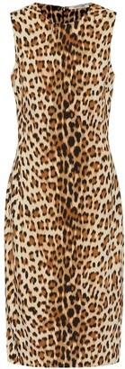 Roberto Cavalli Leopard midi dress