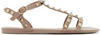 Valentino Pink Garavani Rockstud Jelly Sandals
