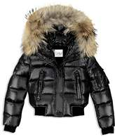 SAM. Girls' Fur-Trimmed Down Bomber Jacket - Big Kid