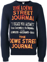Loewe slogan embroidered sweatshirt - men - Cotton/Polyamide - S