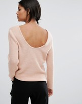 Selected Deep Back Knit Top