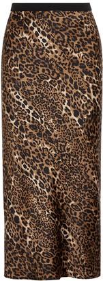 CAMI NYC The Jessica leopard-print silk midi skirt