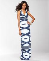 INC International Concepts Dress, Sleeveless Ikat-Print Maxi