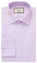Thomas Pink Eno Txt Semi-Cutaway Slim Fit Cotton Dress Shirt