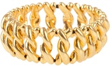 Gold-plated stretch bangle