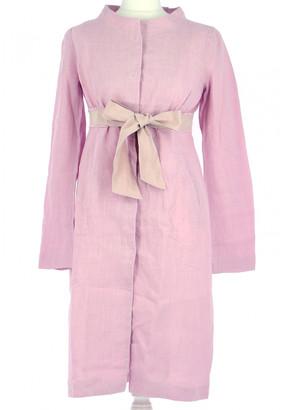 Tara Jarmon Pink Linen Dresses