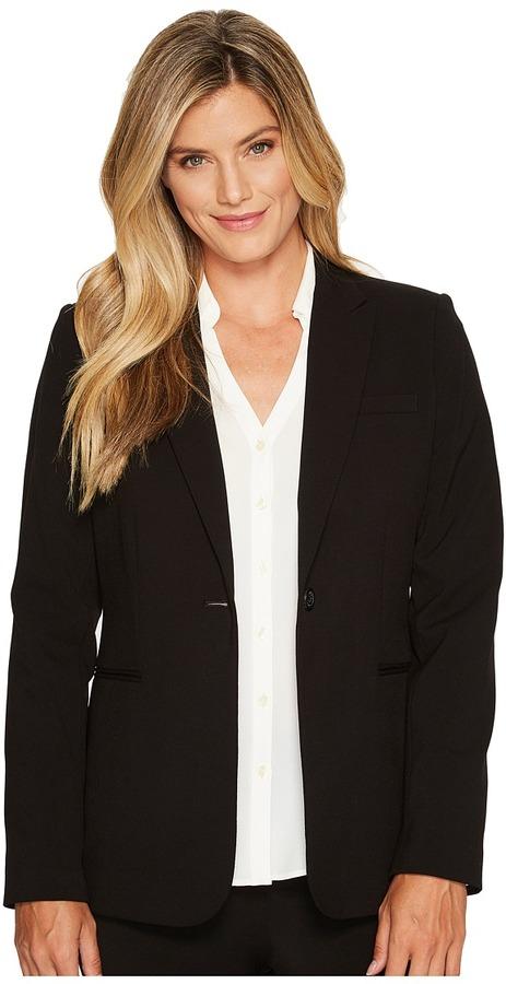 Calvin Klein 1 Button Jacket (Black) - Apparel