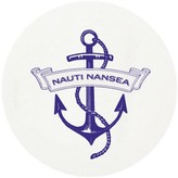 The Well Appointed House Personalized Nautical Anchor Letterpressed Coasters