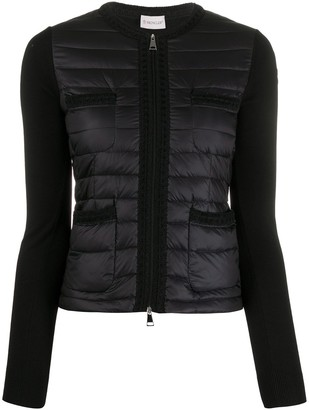 Moncler Knitted Sleeve Puffer Jacket