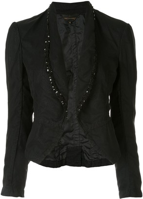 Comme Des Garçons Pre Owned Sequin Embroidered Fitted Blazer